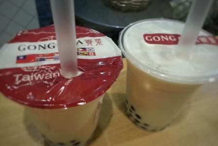 Gong cha(ゴンチャ)のタピオカミルクティー