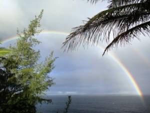 ハワイ島虹