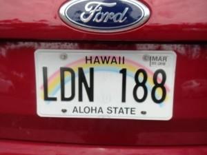 ハワイ・ナンバープレート