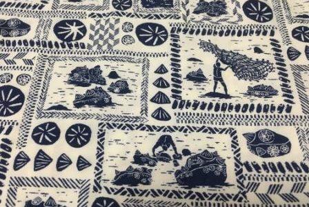 ハワイアンが大好きなオピヒ貝を採る人描いた、オピヒマン柄☆彡